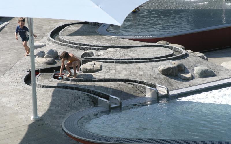 Sportanlage obere Au Bereich Kinderplanschbecken Chur