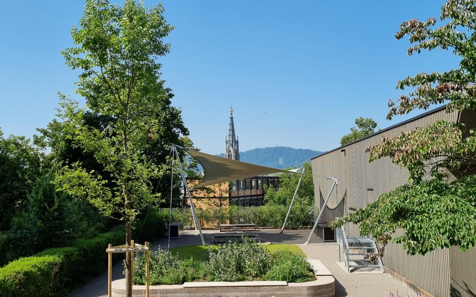 Schulhaus Riedtli, Zürich – Schulgarten